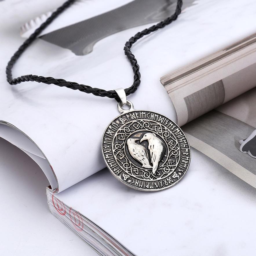 Necklace Talisman Viking Wholesale Charms Pendant Amulet ESMALTES-JEWELRY Raven Knot