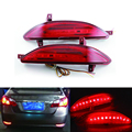 2x Red LEVOU Choques Refletor Traseiro Luz de Aviso Luz da Cauda do Freio de Estacionamento para Hyundai Elantra 2011-2013