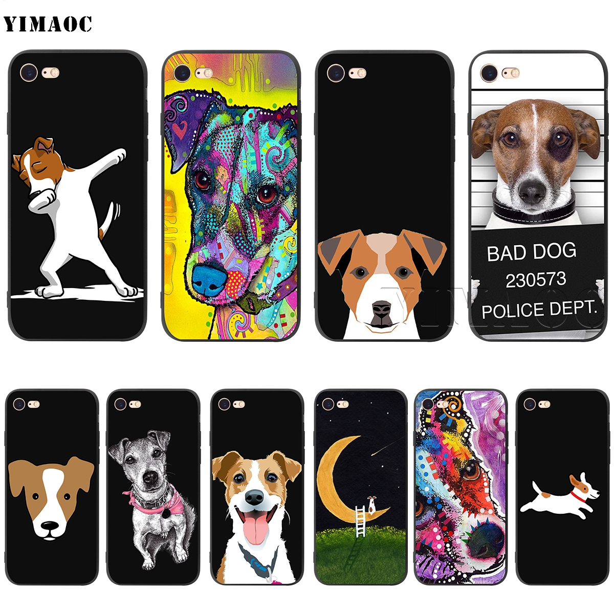YIMAOC Jack Russell Terrier Silicone Soft Case For IPhone 11 Pro XS Max XR X 8 7 6 6S Plus 5 5S SE