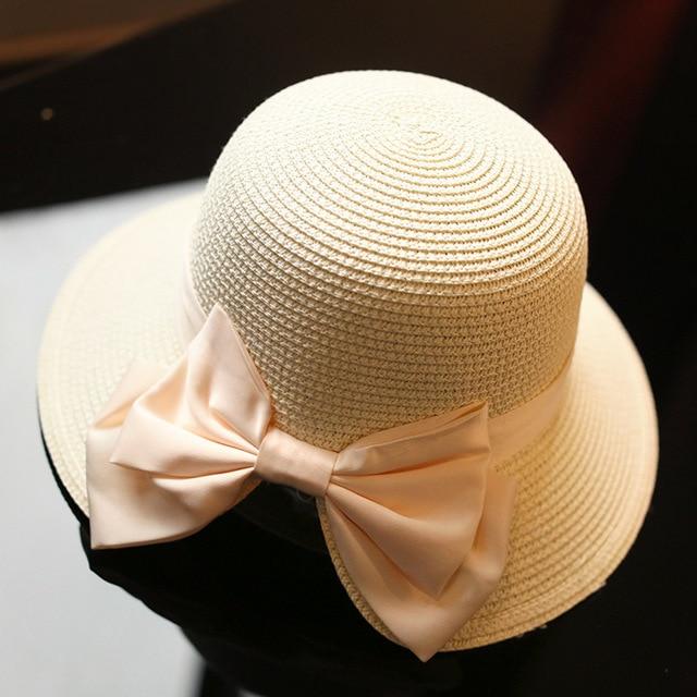 148b1193909 2017 summer new dome wide-width straw hat lady decoration accessories  elegant big bow sun hat lady travel sunscreen beach hat