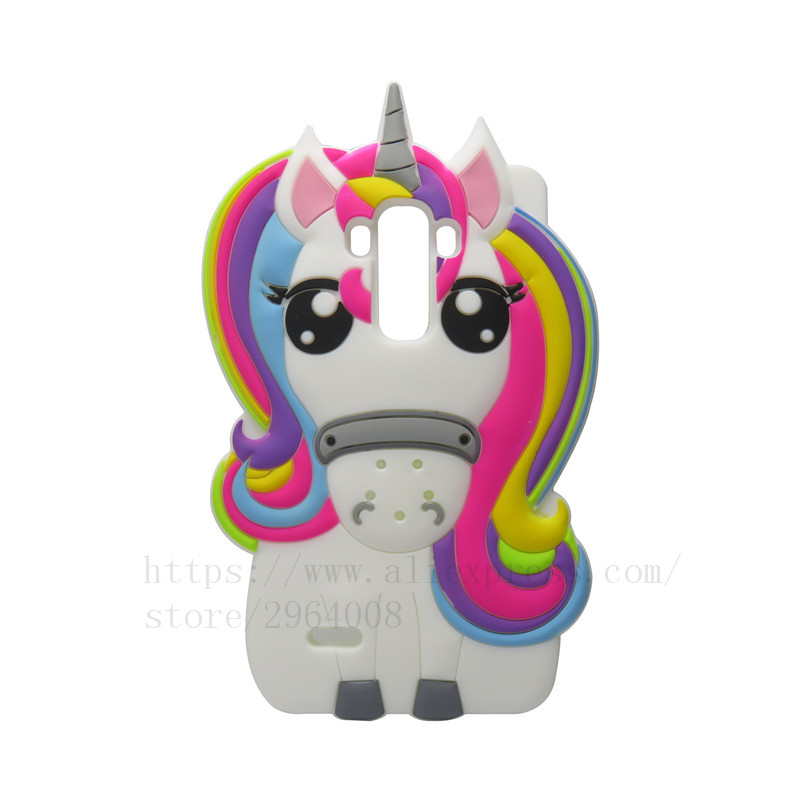 D Cartoon Cute Horse Shell For Lg G Stylus Unicorn Silicone Case For Lg on lg g4 phone price