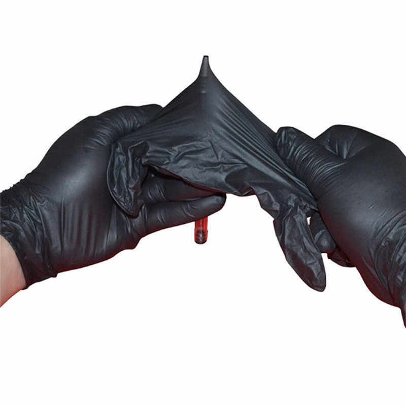 10Pcs washing gloves Comfortable Rubber Disposable Mechanic Nitrile Gloves Black dish washing gloves guantes para lavar platos