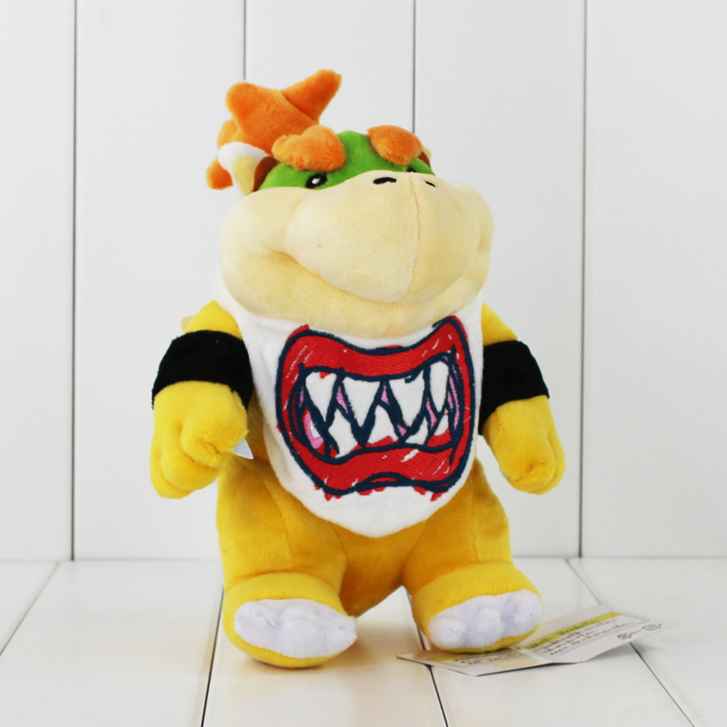 "8"" 21cm Super Mario Koopa Bowser Dragon Plush Doll Brothers Bowser JR Soft Plush Toys Gift for Children Free Shipping(China)"