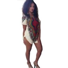 Vestidos 2016 Новый Женский Dashiki Платье Длинная Рубашка Африканского Коктейль Клубная Одежда Мини Платья Летние Повседневная Футболка для Женщин DM #6