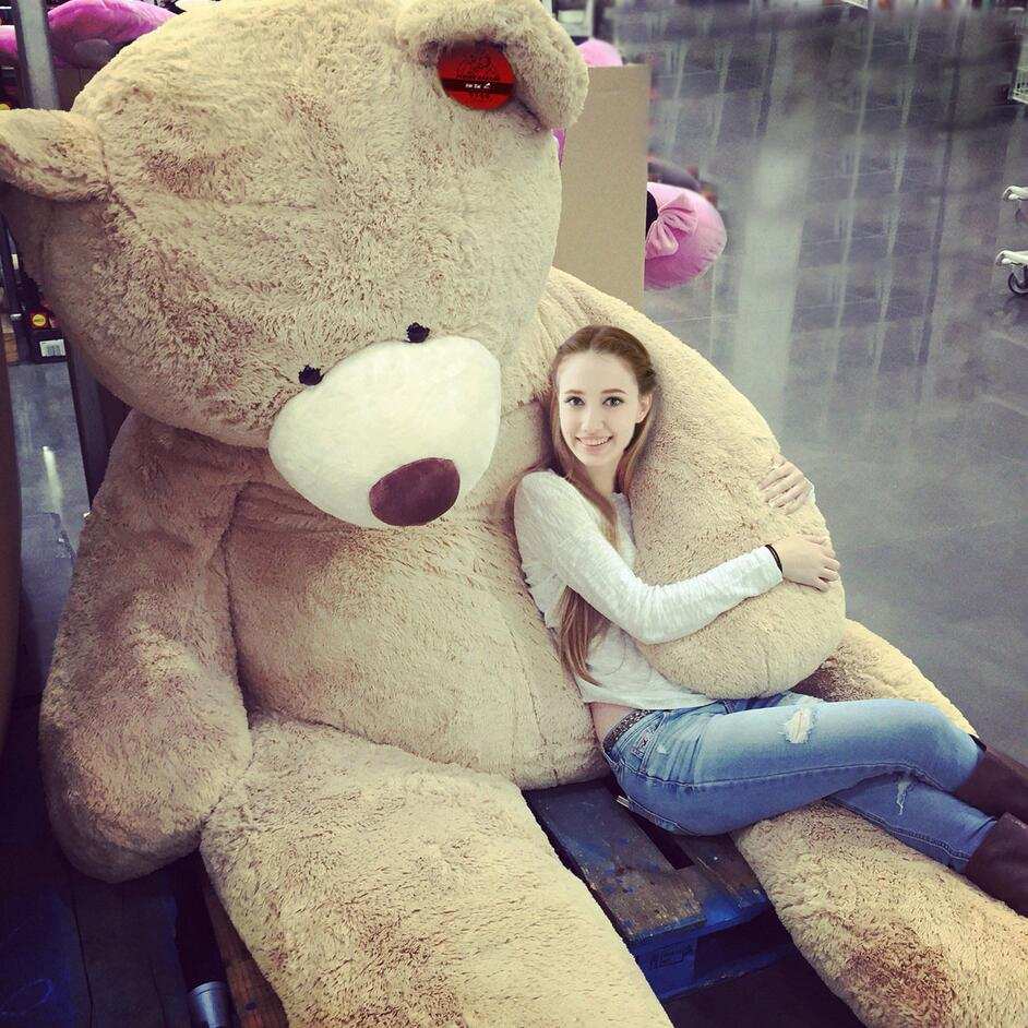 200cm/78 HUGE BIG STUFFED BEAR COVER PLUSH SOFT TOY PILLOW COVER(WITHOUT STUFF) fancytrader biggest in the world pluch bear toys real jumbo 134 340cm huge giant plush stuffed bear 2 sizes ft90451