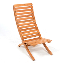 Foldable Bamboo Adjustable Patio Sling Chair Outdoor Furniture Bamboo Folding Beech Chair Portable Indoor Outdoor Chaise Chair