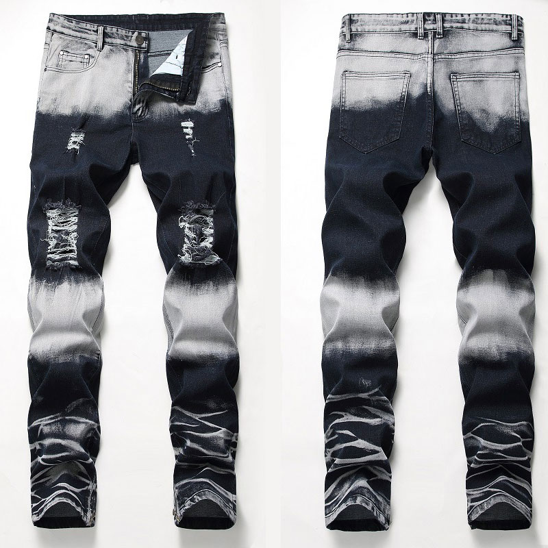 Italian Style Fashion Skinny Stretch Casual Men Jeans New Designer Classical High Quality Pants
