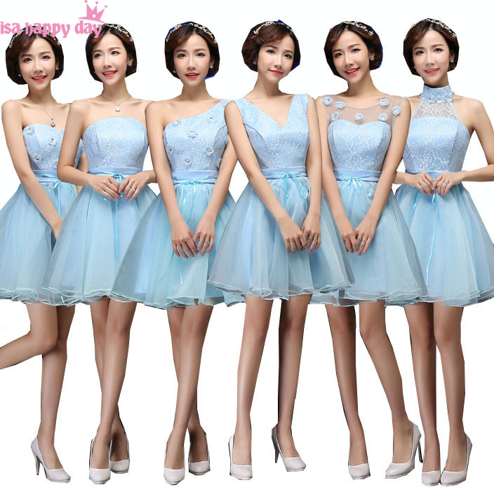 short strapless sweetheart neckline teen bridemaids   dress   2019 for party modest girl   bridesmaid     dresses   blue for juniors B3507