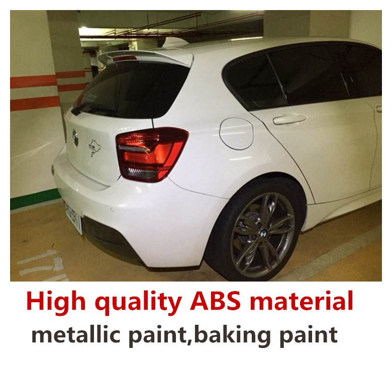 For <font><b>bmw</b></font> F20 <font><b>F21</b></font> <font><b>spoiler</b></font> rear wing 116i 120i 118i M135i 2012 to 2019 Universal <font><b>spoiler</b></font> high quality ABS Primer and paint color image