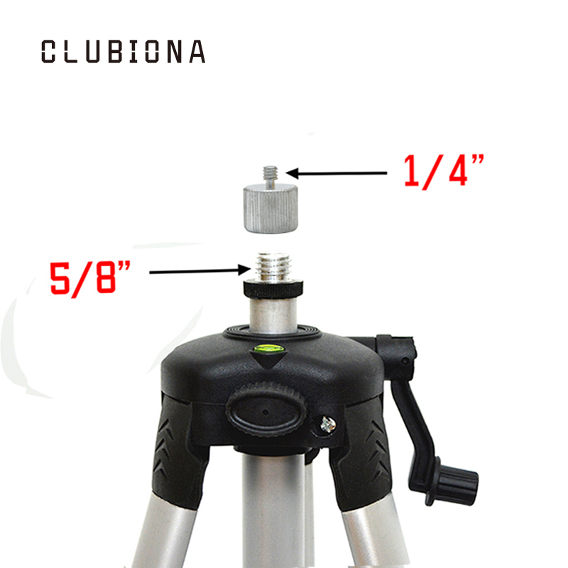 цена на 5/8 to 1/4 adapter for 1/4 thread red or green digital leveler with 755g net weight aluminum coated stand or tripod