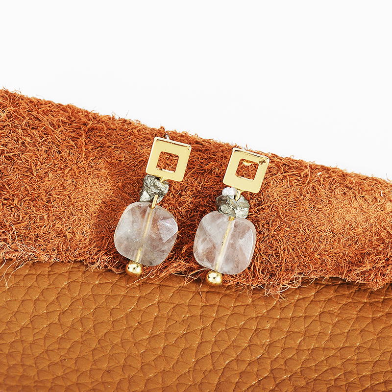 contracted from in triangle natural earrings color stud custom stone style girl fashion sales square woman accessories wholesale item jewelry