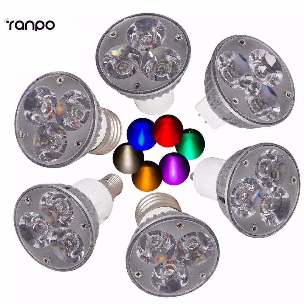 Super Bright Dimmable Led Spotlights 3W GU 10 E12 E14 E27 B22 GU5.3 LED Bulbs Light 110V 220V Warm/Cool White Base LED Downlight