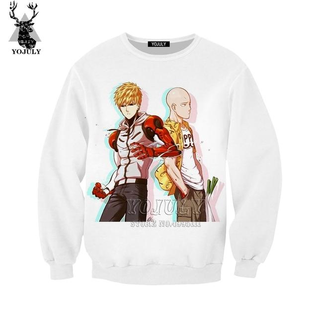 YOJULY 3D Print Men Women Anime One Punch Man Genos Saitama Casual T-shirt Tshirt Sweatshirt Hooded hoodies Zipper Jacket A296