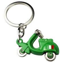 Modelo de scooter itália bandeira chaveiro chaveiro para piaggio beverly vespa 125 gts ducati multistrada aprilia benelli moda presente