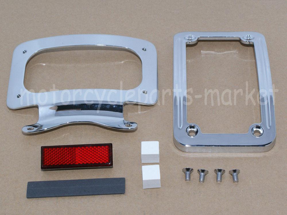 Chrome License Plate Curved Frame Bracket For Harley Street Road Glide King Dyna