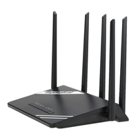 300Mbps Wireless Long Range Wi Fi Gigabit Router With High Power 5 External Antennas Support 802