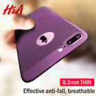 H&A Ultra-Thin Heat Dissipation Phone Case For iPhone X 7 8 6 6s Plus Hard PC Protective Cover For iPhone 7 6 6s 8 Plus X Case