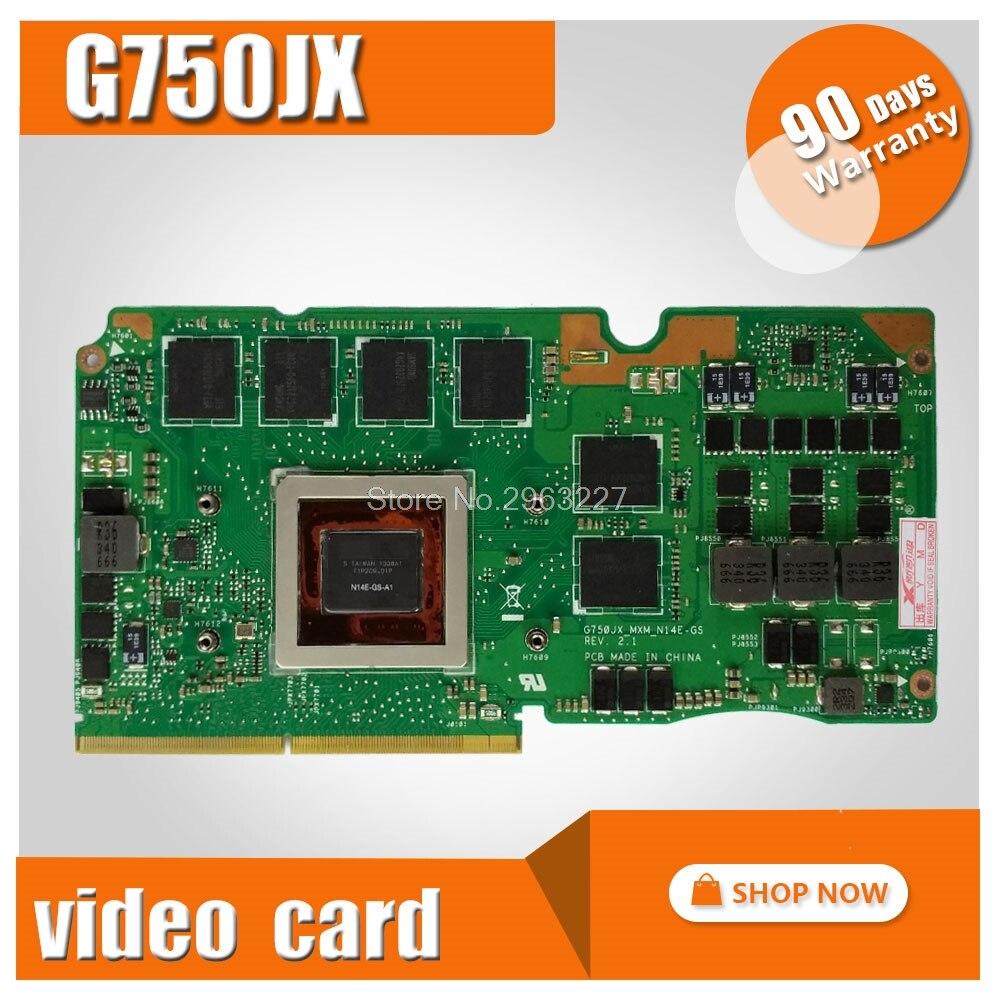 For Asus ROG G750Y47JX-BL laptop card G750J G750JX N14E-GS-A1 GeForce GTX 770M 3GB VGA Graphic card Video card graphic card for asus g73sw vga board gtx 460m n12e gs a1 3gb ddr5 mxmiii laptop g73sw g73jw g53sw g53sx g53jw video card