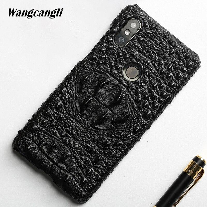 Marque cas de téléphone pour xiaomi note 5 crocodile motif demi-pack Vachette mobile téléphone protection cas pour xiaomi de mélange 2 s a1 a2