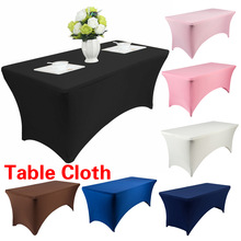 Tablecloth-Decoration Birthday-Table-Cover Buffet Spandex Wedding Cocktail Hotel 183x76x76cm