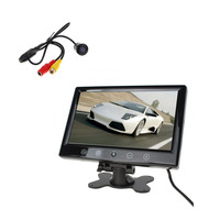 Free Car Camera 9 Inch TFT LCD Car Rear View Parking Monitor Auto Rearview Backup Monitors 2 Video Input Reverse Camera DVD