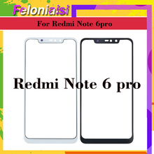 купить 10Pcs/lot For Xiaomi Redmi Note Note 6 PRO 6Pro Touch Screen Panel Front Outer Glass Lens Touchscreen NO LCD Without Digitizer по цене 752.38 рублей