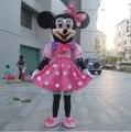 Высокое качество Рождество Минни Маус костюм талисмана для Хэллоуина, дни рождения, и другие стороны в использовании, быстрая доставка