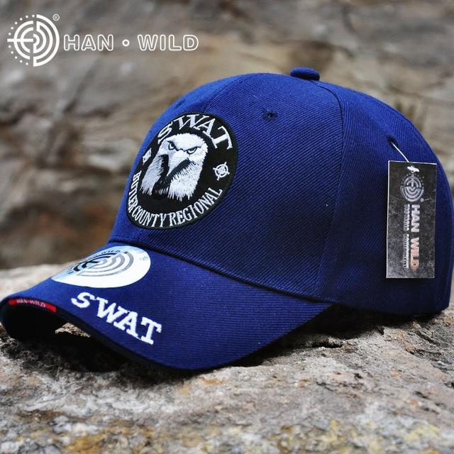f415d735fcc HAN WILD Genuine Brand Navy Blue Baseball Caps Army Embroidery Eagle Head  Cap Creative For Men