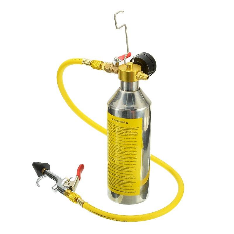 1 conjunto Ferramenta De Limpeza do Tubo de Ar Condicionado Do Carro A/C Rubor Garrafa Kits de Vasilha Para R134a R12 R22 R410a r404a