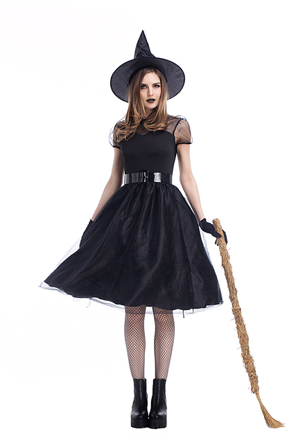 xl adult women halloween witch costume wizard of oz wicked magic black hat evil vampire cosplay