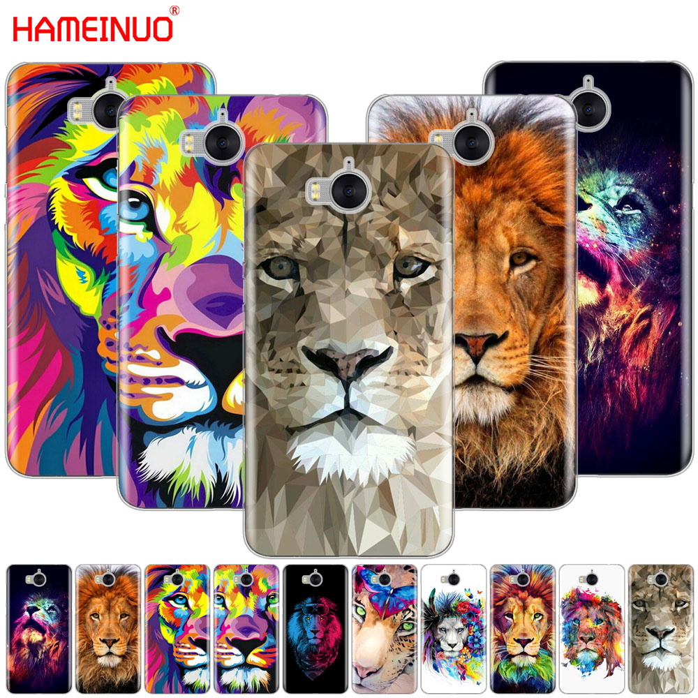 HAMEINUO Big Lion On Stone snow <font><b>cell</b></font> <font><b>phone</b></font> Cover Case for <font><b>huawei</b></font> honor 3C 4X 4C 5C 5X 6 7 Y3 <font><b>Y6</b></font> Y5 2 II Y560 2017