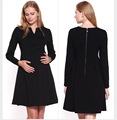 2016 European and American fashion large size Maternity round neck lace short-sleeved dress Slim dress pregnant women dress