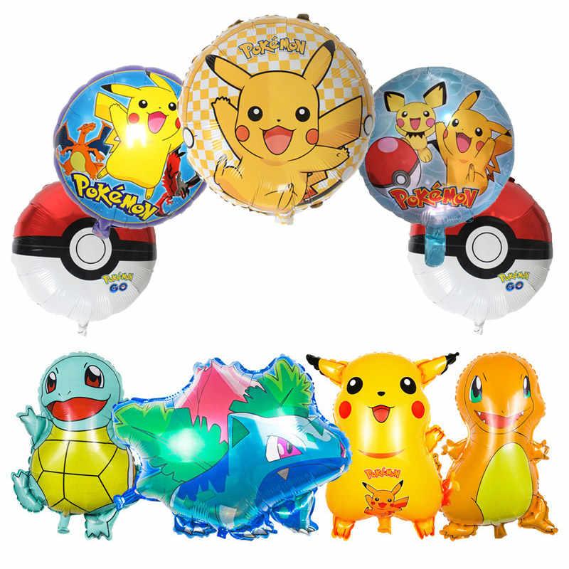 Balões Folha dos desenhos animados Pokemon Pikachu monsterr Balão Da Festa de Aniversário Crianças Suprimentos Decorações do Balão de Digimon Digital Presente Para As Crianças