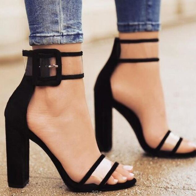 Plardin 2019 Summer Plus Size Hot Style In Europe And The ultra-high Hollow Out Thick With Sandal Strap Roman Women Shoes Woman