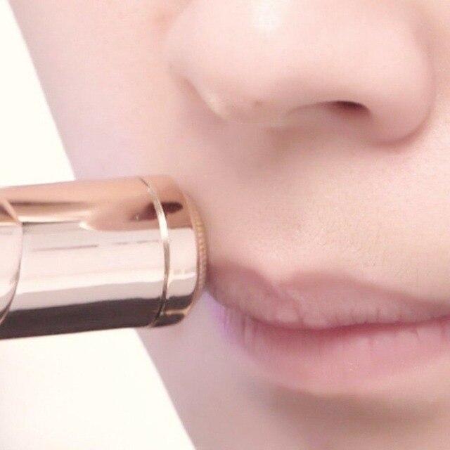 Mini Vrouwelijke Ontharing Scheermes Vrouwen Body Gezicht Elektrische Lippenstift Vorm Scheren Tool Scheerapparaat Haar Remover wax voor ontharen
