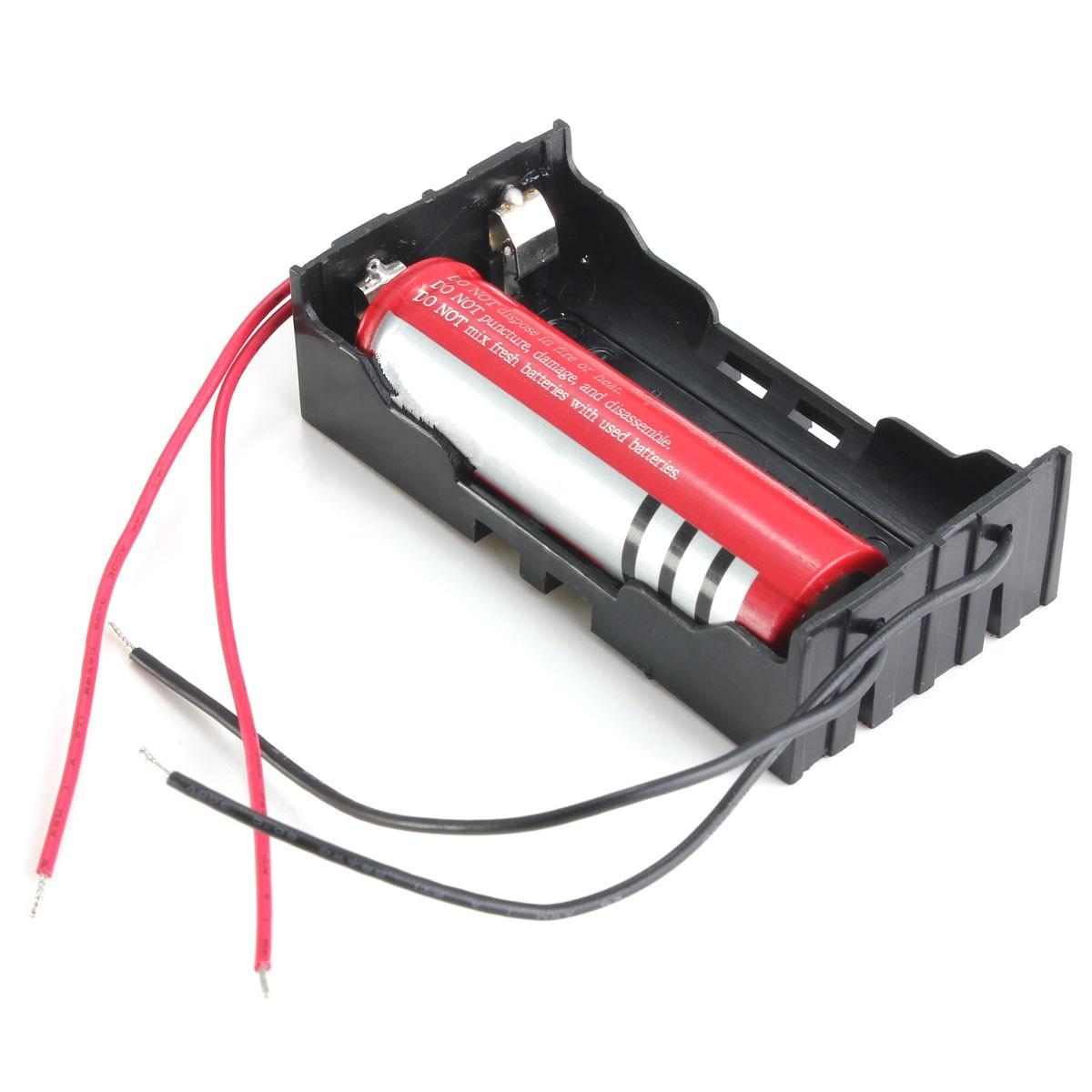 Hot Sale Black Plastic 2 Way 2 Slots 18650 Battery Storage Case Box Ho