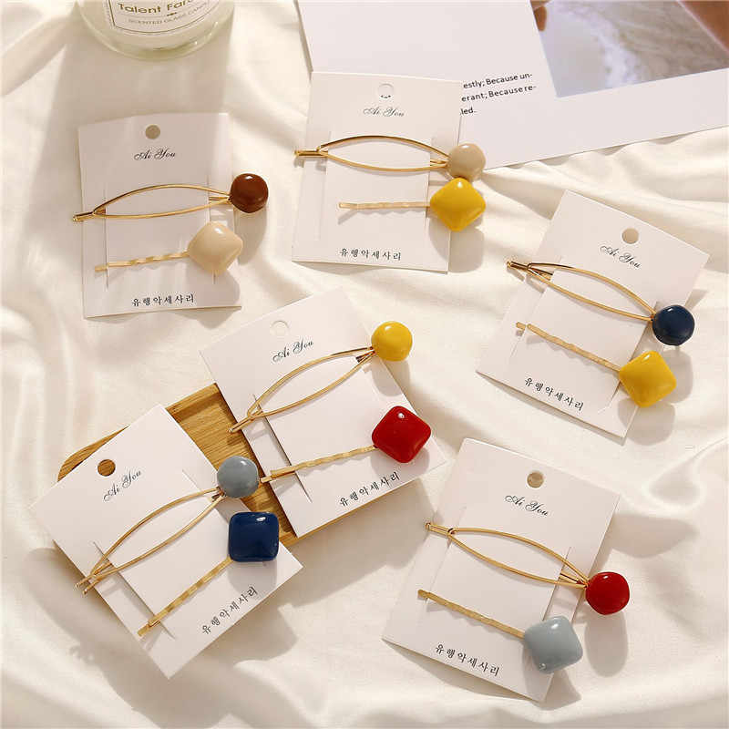 Modyle Korea Hairpins Set For Women Girls 2019 Fashion Simulated-pearl Stone Hair Clips Female Hairwear Jewelry Accessories
