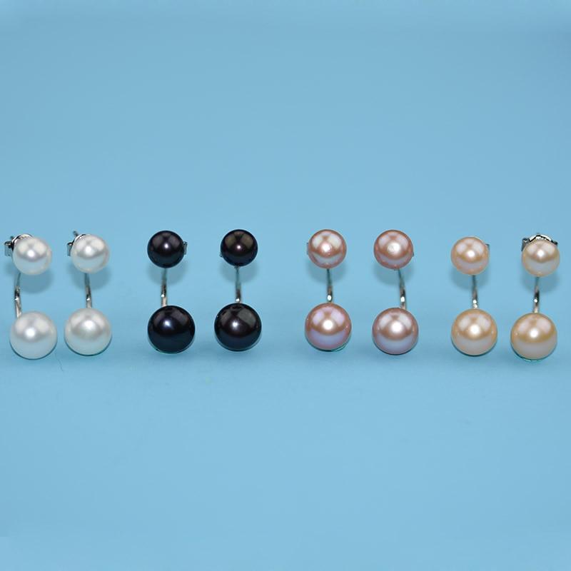 YIKALAISI 925 argint sterlină naturale oblate bijuterii perla - Bijuterii de moda - Fotografie 6