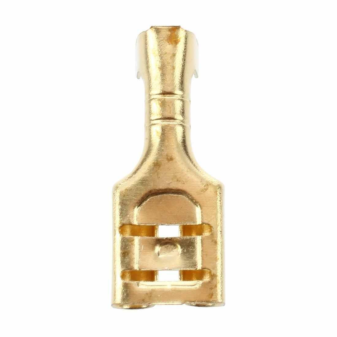 20 pièces En Laiton Doré À Sertir Terminal 6.7mm Femelle Connecteurs