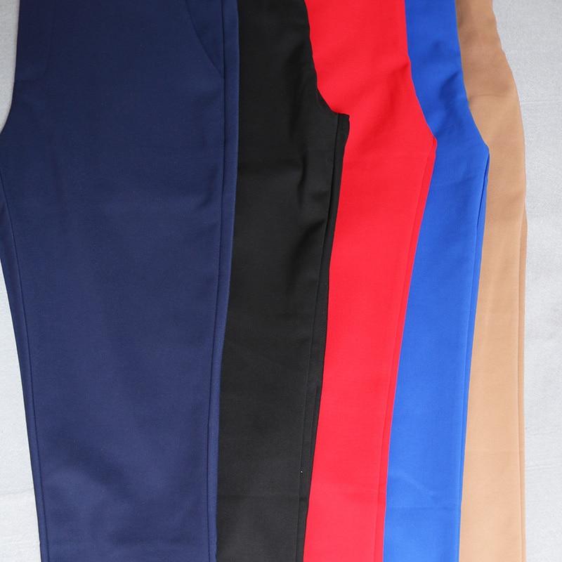 Women Pencil Pants 2019 Autumn High Waist Ladies Office Trousers Casual Female Slim Bodycon Pants Elastic