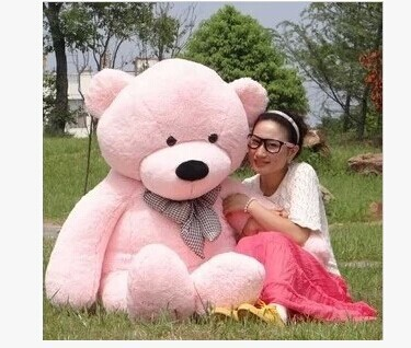 Stuffed animal 160cm pink Teddy bear plush toy soft doll gift w1669 stuffed animal largest 200cm light brown teddy bear plush toy soft doll throw pillow gift w1676
