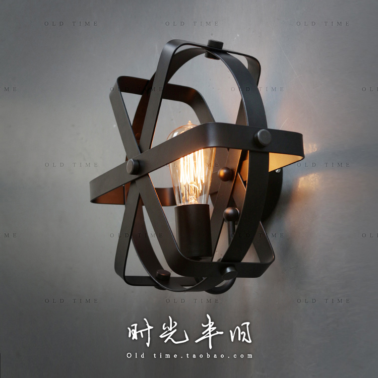 Edison Loft Industrial Style Vintage Wrought Iron Wall Lamp Restaurant Bar Counter Clothing Store Wall Lamp Coffee Shop