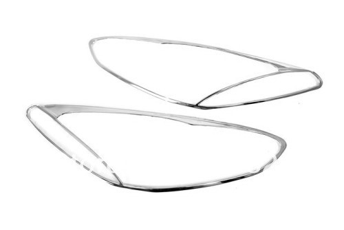 Chrome Head Light Cover For Mazda 2 / Demio 2008 2012-in