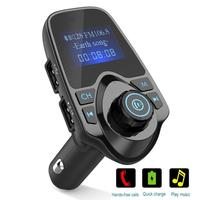 Bluetooth Car MP3 Player FM Transmitter With Dual USB USB Charger Bluetooth Handsfree Car Kit Wireless