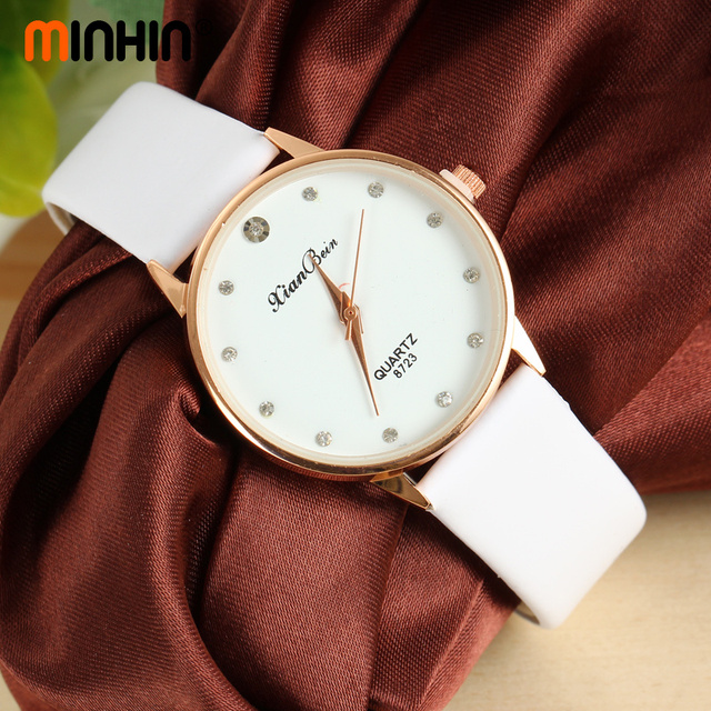 Minhin Watch Women Leather Quartz Watches Brilliant Lover S