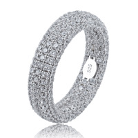 Best Quality 925 Sterling Silver Stamp Ring Full Iced Out Cubic Zirconia Mens Women Engagement Rings Charm Jewelry For Gifts