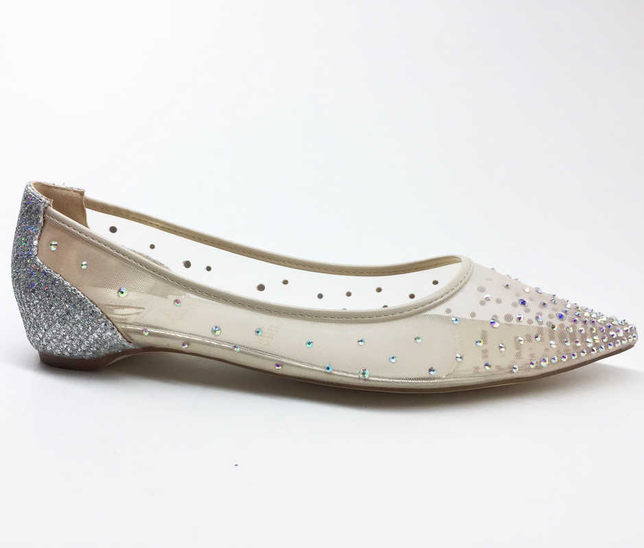 Women Wedding Shoes Fashion Crystal Lady Pointed Toe Low Heels Flats Bride  shoes Bridal Women Party 295fbf52a287