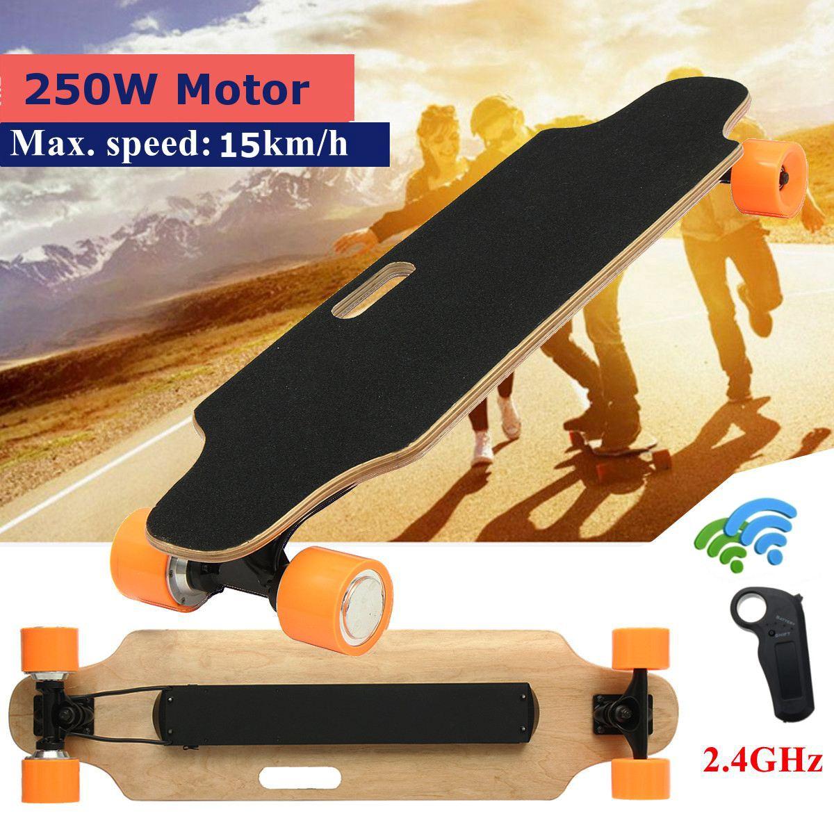 15 km/h planche à roulettes électrique Scooter télécommande Longboard 7 couches érable planche vélo électrique
