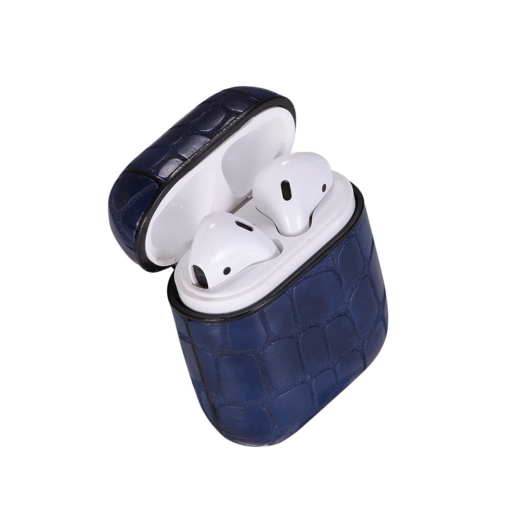 For Apple AirPods Leather Earphones Charger Case Protective With Carabiner For AirPods Bluetooth Earpods Protective Skin 626