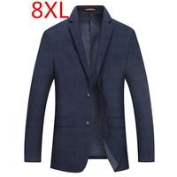 Весенний костюм 8XL 6XL 5XL 4XL Новинка 2018 года Костюмы Куртка Блейзер hombre мода тонкий мужской повседневное для мужчин s пиджаки